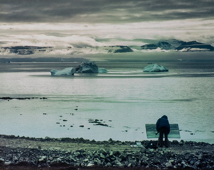 James Morrison painting in the Arctic. Photo: Estate of James Morrison