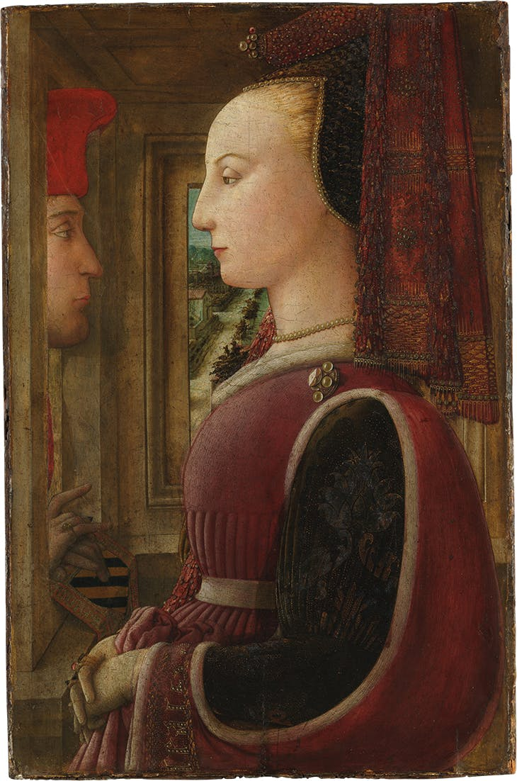 Portrait of a Woman with a Man at a Casement (c. 1440), Fra Lippo Lippi. Metropolitan Museum of Art, New York