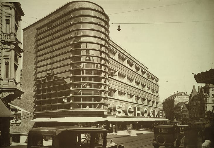 The Schocken department store in Stuttgart, designed by Erich Mendelsohn (1887–1953) and photographed in 1928, the year it opened, by Francis Rowland Yerbury.