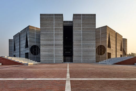 National Assembly Building of Bangladesh, Dhaka (1962–83), designed by Louis Kahn (1901–74).