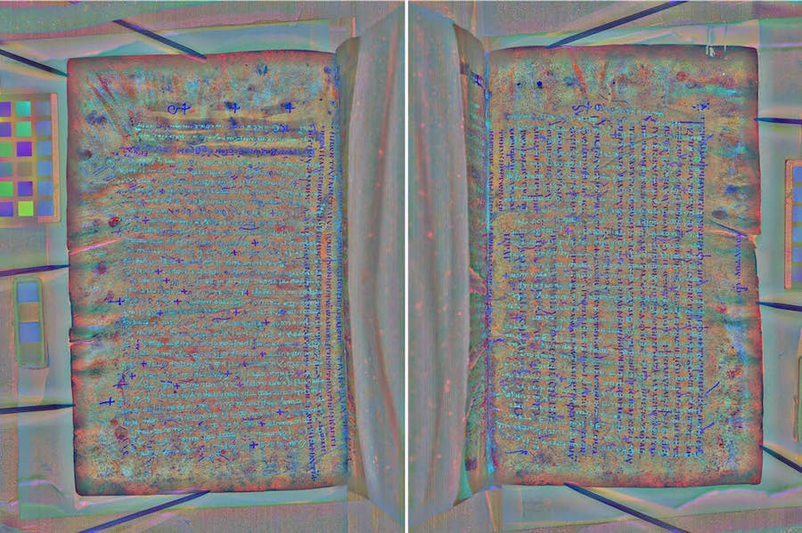 The undertext of the Codex Zacynthius shown through multispectral imagery.
