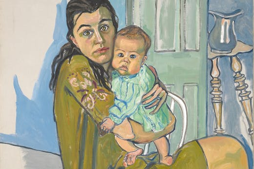 Nancy and Olivia (detail; 1967), Alice Neel. Collection of Diane and David Goldsmith.