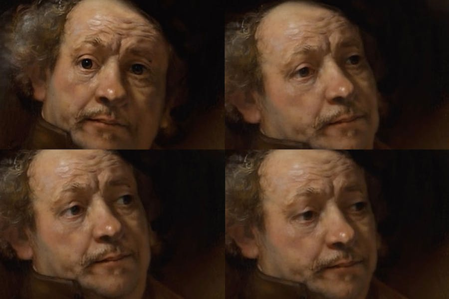 Rembrandt looking shifty – courtesy of My Heritage's Deep Nostalgia™