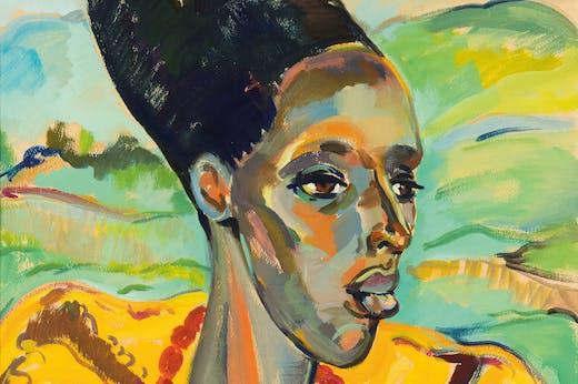 Congo Woman (detail; 1942), Irma Stern.