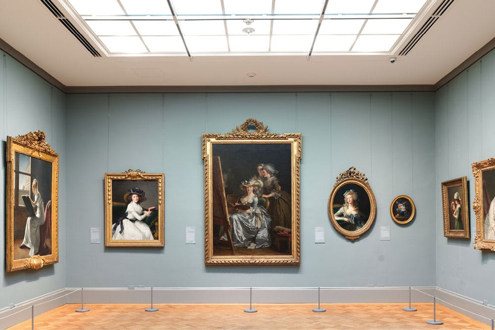 Installation view of Gallery 616, 'Paris in the Early Eighteenth Century', at the Metropolitan Museum of Art, New York