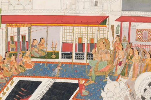 The Mood of Kota Palace (detail), (c. 1700), unknown artist, Udaipur. National