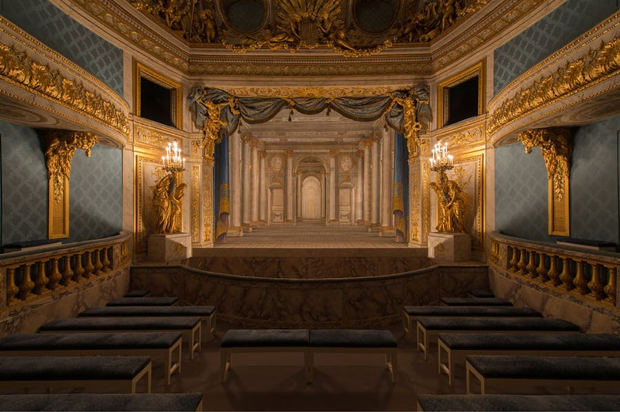 The Queen's Theatre at Versailles, built 1779–79 by Richard Mique for Marie Antoinette.