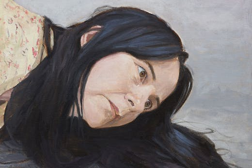 Untitled (lockdown portrait) (detail; 2020), Gillian Wearing.