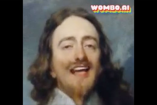 Jaw-dropping: Charles I singing along to Gloria Gaynor, courtesy of Wombo.ai (and the pairing skills of Twitter user @oldnorthroad)