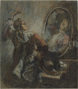 Actor Posing in Front of a Mirror (1870s?), Honoré Daumier. National Gallery of Art, Washington, D.C.