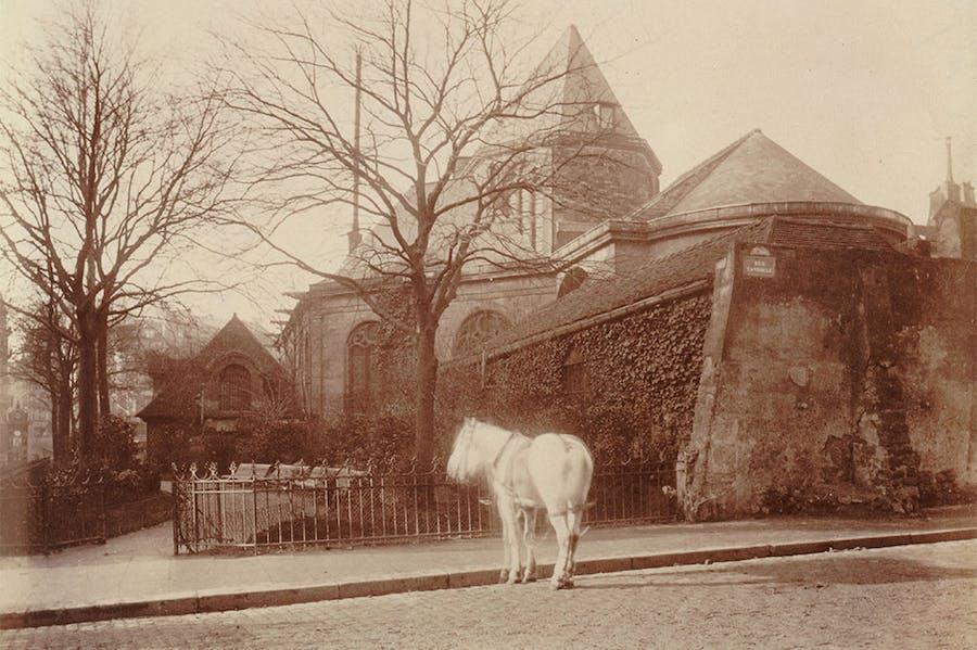 Church of Saint-Médard, 5th arrondissement (detail; 1900–01), Eugène Atget. Musée Carnavalet – Historie de Paris.