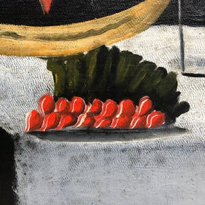 Detail of a Niko Pirosmani painting, on view at the Albertina in 2018–19.