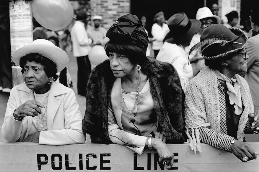 Three Women at a Parade, Harlem, NY (1978), Dawoud Bey.