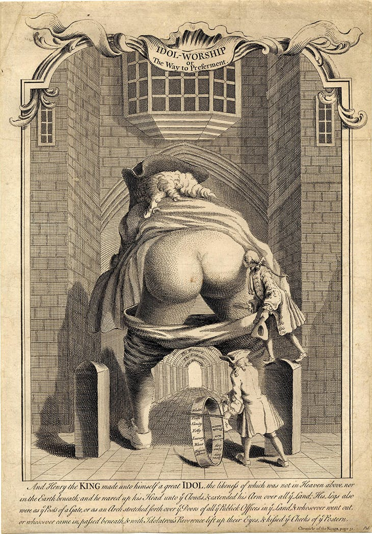 Idol-worship or The Way to Preferment (1740), anonymous artist.