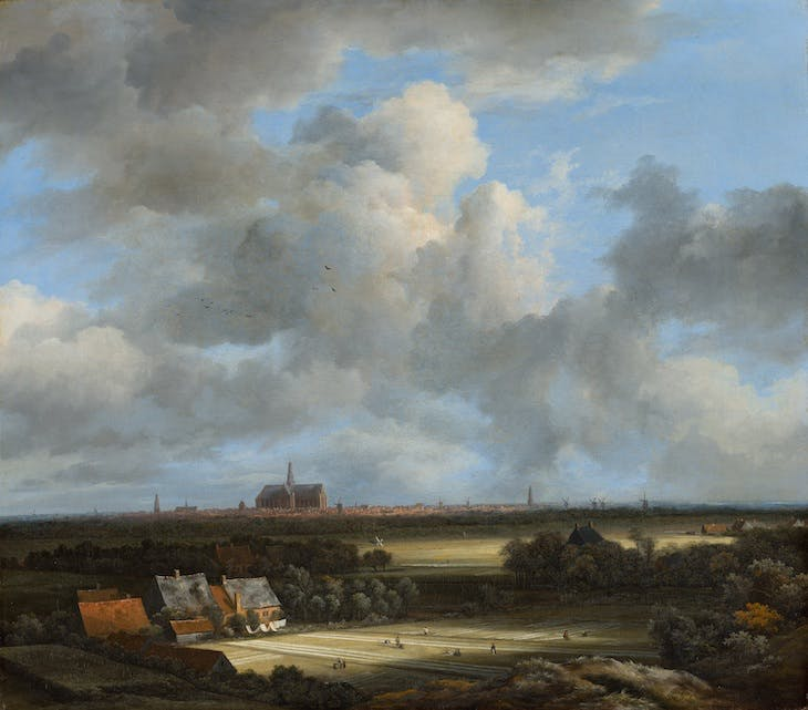 (View of Haarlem with Bleaching Grounds c. 1670–75), Jacob van Ruisdael.