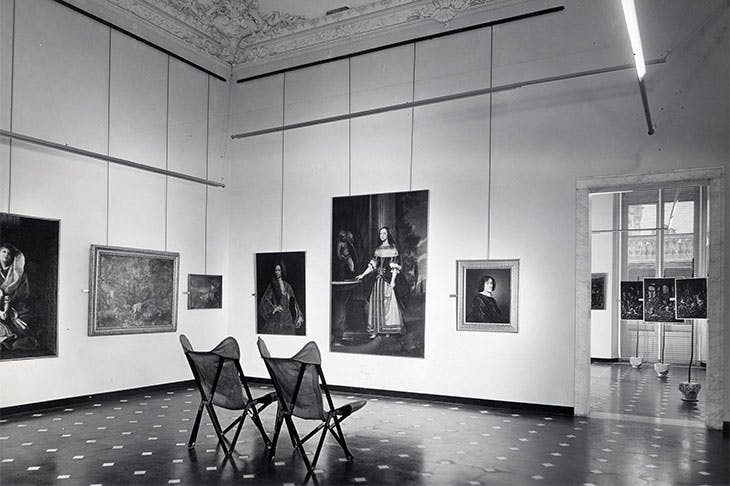 Installation view showing Franco Albini and Franca Helg's design for the Palazzo Bianco, Genoa (1949–51).