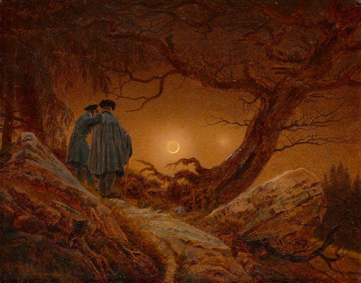 Two Men Contemplating the Moon (1819–20), Caspar David Friedrich.
