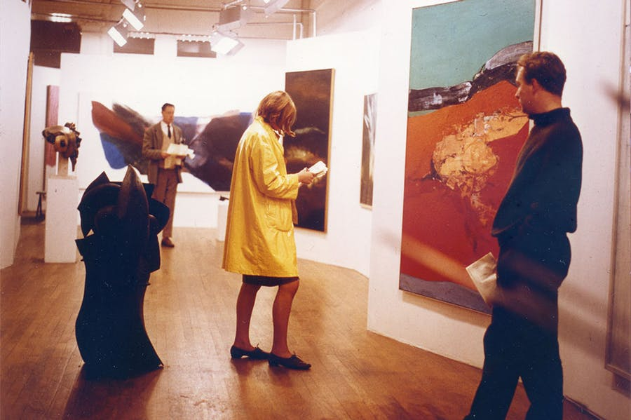 Installation view of 'Painting & Sculpture of a Decade 54–64', designed by Alison and Peter Smithson at the Tate Gallery, London, 1964.