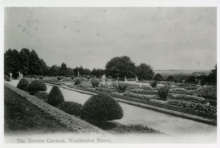 Archival image of the parterre.