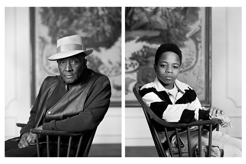 Fred Stewart II and Tyler Collins from the series The Birmingham Project (2012), Dawoud Bey. Courtesy Rena Bransten Gallery, San Francisco, CA and Rennie Collection, Vancouver; © Dawoud Bey