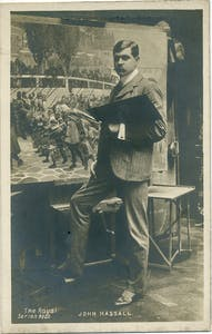John Hassell, photographed in his studio in 1909.