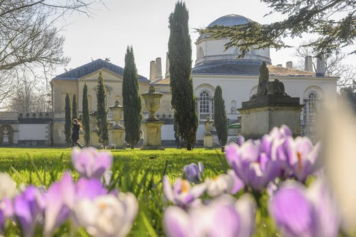 Chiswick House, from the gardens