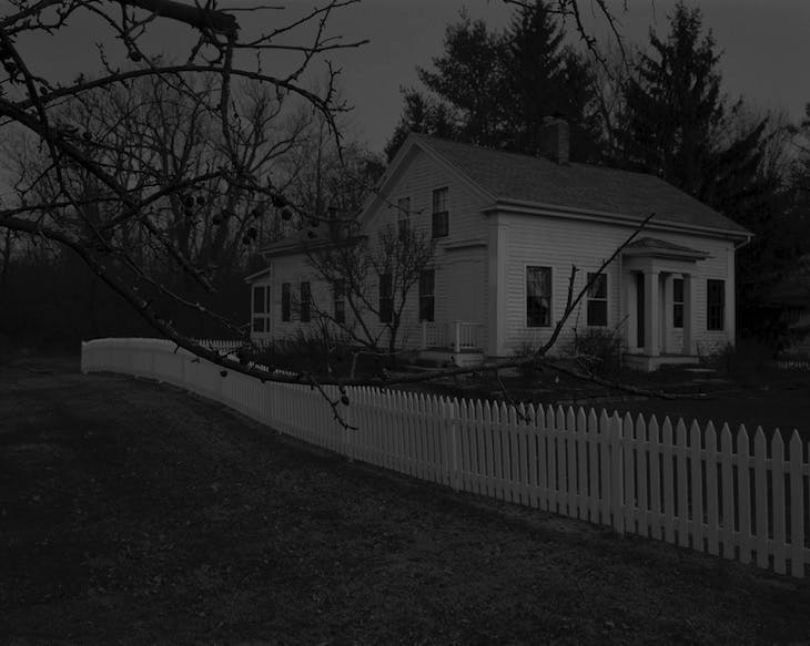 Untitled #20 (Farmhouse and Picket Fence I) (2017), Dawoud Bey.