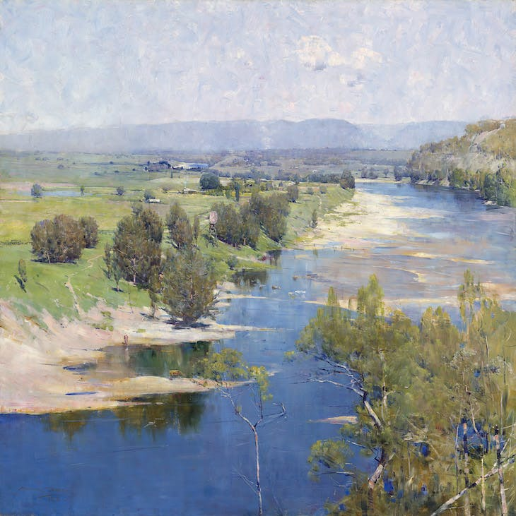 'The purple noon's transparent might' (1896), Arthur Streeton.