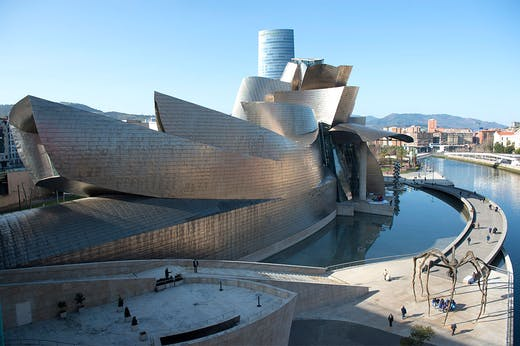 Basque in glory: the Guggenheim Bilbao photographed in 2020.
