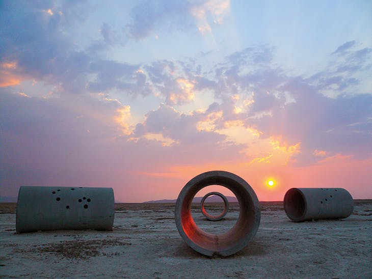 Sun Tunnels (1973–76), Nancy Holt, installed in the Great Basin Desert, Utah. Dia Art Foundation.