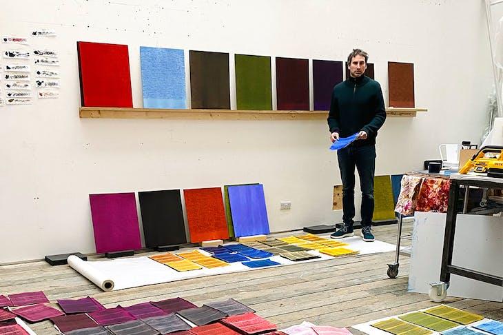 Idris Khan in his London studio in April 2021.