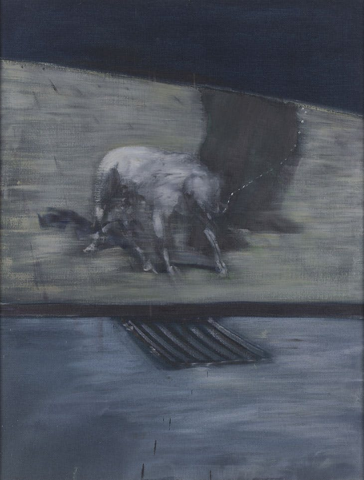 Man with Dog (1953), Francis Bacon. Collection Albright-Knox Art Gallery, Buffalo, New York.