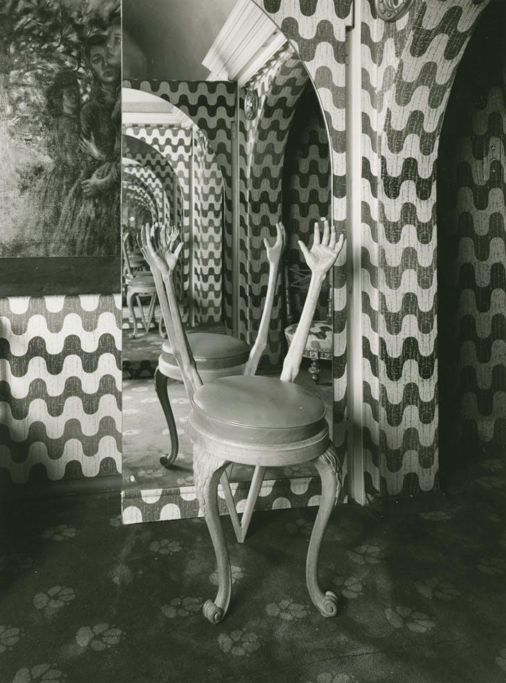 'Hand Chair' (1938) designed by Salvador Dalí and photographed at Monkton House. West Dean Collection.