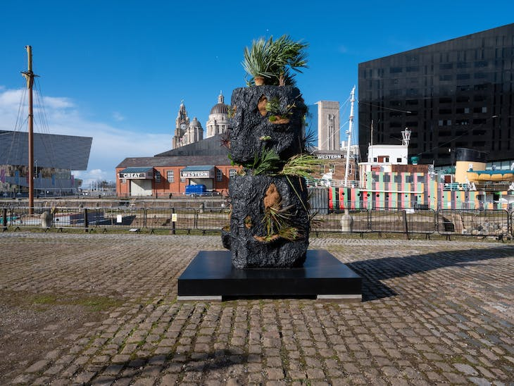 (2020), Rashid Johnson. Installation view at Canning Dock Quayside, Liverpool.
