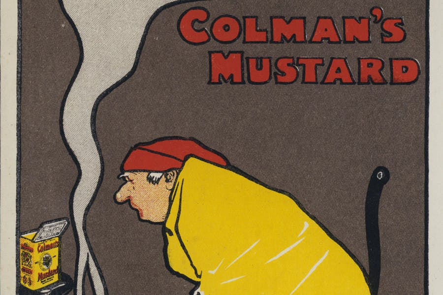 Detail from one of John Hassall's advertisements for Colman's of Norwich from 1898–89.