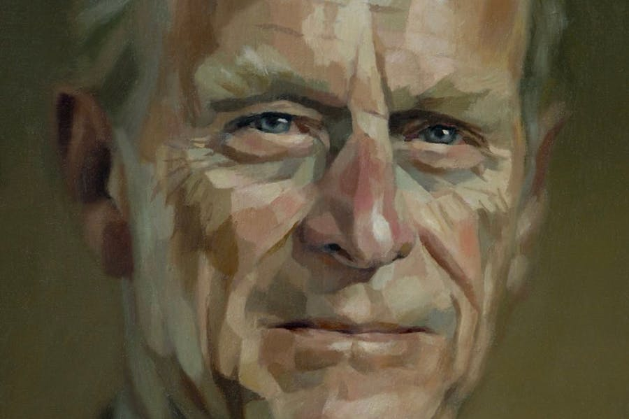 Jonathan Yeo's portrait of Prince Philip from 2006 (detail).