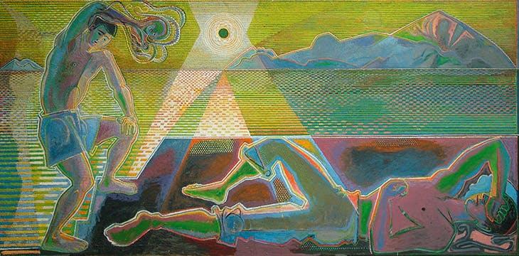 Two Figures and Setting Sun (1952–67), John Craxton. John Craxton Estate