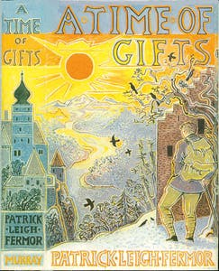 John Craxton's cover for Patrick Leigh Fermor's A Time of Gifts (1977)