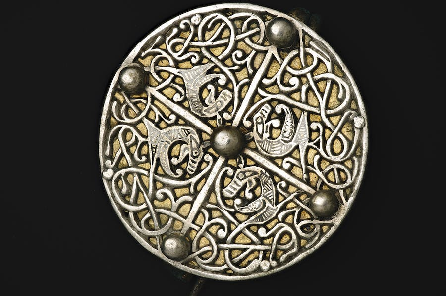 An Anglo-Saxon disc brooch.
