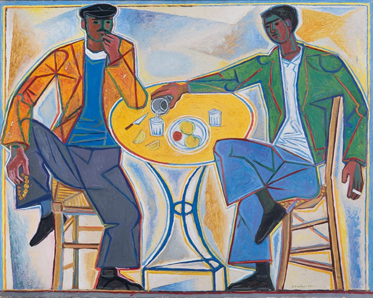 Two Men in Taverna (1953), John Craxton. Private collection