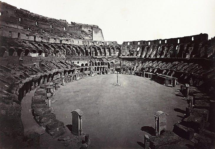 Interior of the Colosseum, c. 1870.