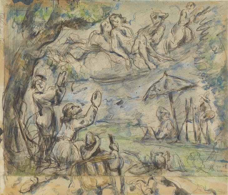 The Apotheosis of Delacroix (1878–80; completed later), Paul Cézanne.