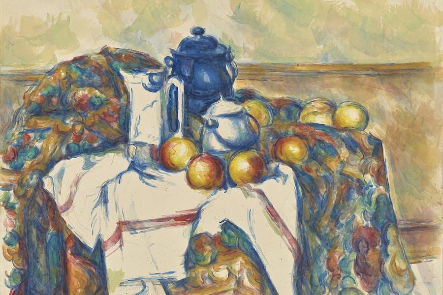Still Life with Blue Pot (1900–06), Paul Cézanne.