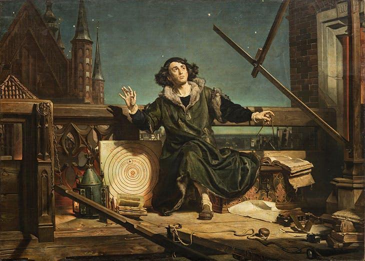 The Astronomer Copernicus, or Conversations with God (1873), Jan Matejko. The Jagiellonian University Museum, Kraków.