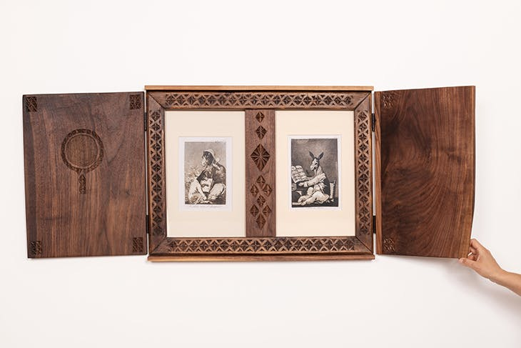 Untitled (double-fold book) (2005/2020), Patricia Fernández (with José Luis Carcedo, her grandfather).