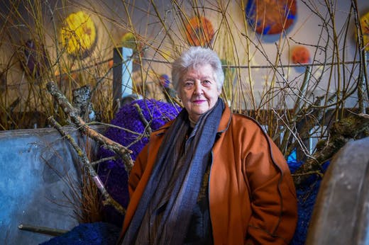 Sheila Hicks at an exhibition of her work at the Chaumont-sur-Loire castle in 2017.