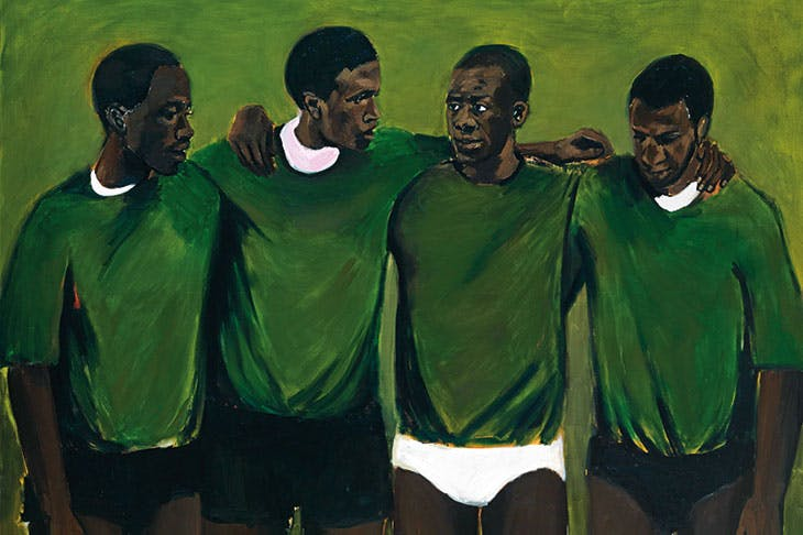Complication (detail; 2013), Lynette Yiadom-Boakye. Private collection.