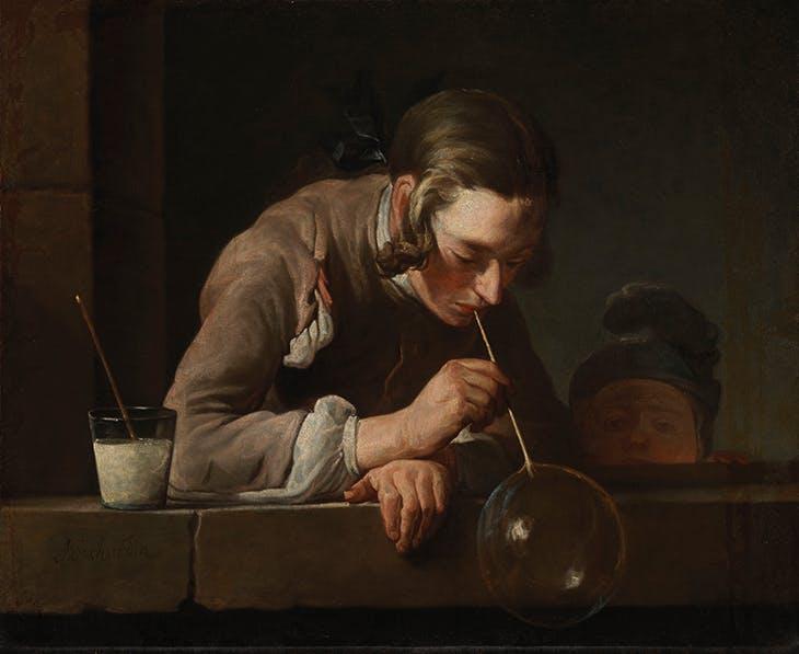 Soap Bubbles (after 1739), Jean-Baptiste-Siméon Chardin. Los Angeles County Museum of Art.
