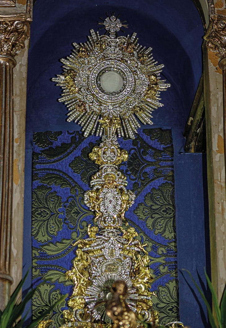 The long-lost silver-gilt monstrance made by Luigi Valadier in 1766/67 and recently discovered in the Cathedral of León in Nicaragua.