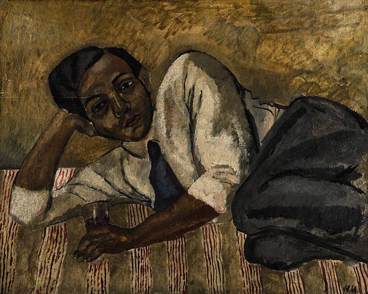 Reclining Man (1918), Nina Hamnett. Private collection.